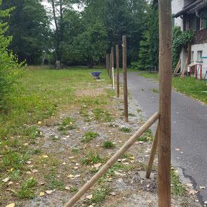 Zaun für die Umrandung der Alpaka Farm