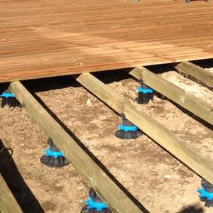 Préparation terrasse en bois