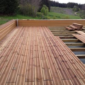 Pose terrasse en bois