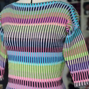 """Pulli """"Rerik"""" mit 3/4 Ärmel mit 9 Farben der """"Baby Cotton"""" von Lang Yarns, Verbrauch ca. 12 Kn."""