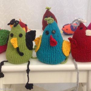 Hühnergalerie zu Ostern