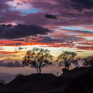 Farbenpracht zum Sonnenuntergang