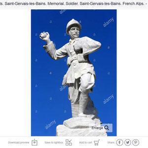 Monument aux morts. Saint-Gervais-les-Bains.