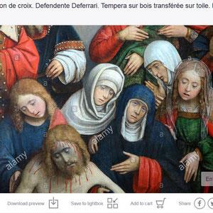 La Déposition de croix. Defendente Deferrari. Tempera sur bois transférée sur toile. Musée municipal du Monastère royal de Brou. Bourg-en-Bresse.
