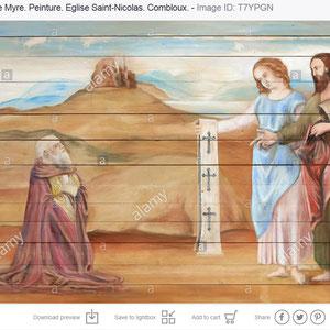 Saint-Nicolas de Myre. Peinture. Eglise Saint-Nicolas. Combloux.
