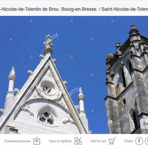 Search alamy Eglise Saint-Nicolas-de-Tolentin de Brou. Bourg-en-Bresse. / Saint-Nicolas-de-Tolentin Church of Brou. Bourg-en-Bresse.