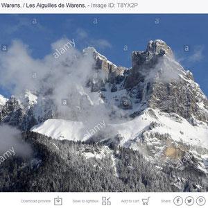 Les Aiguilles de Warens. Alpes françaises. Haute-Savoie.