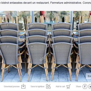 Restaurant. Fermeture administrative et gouvernementale. Coronavirus. Covid19. Saint-Gervais-les-Bains. Haute-Savoie.