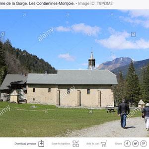Eglise Notre-Dame de la Gorge. Les Contamines-Montjoie.