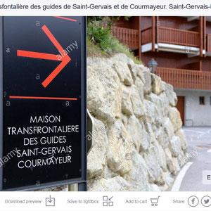 Maison Forte Hautetour. Maison transfrontalière des guides Saint-Gervais Courmayeur. Saint-Gervais-les-Bains. Haute-Savoie.