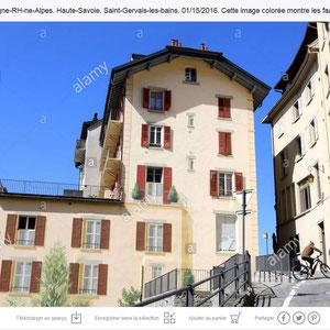 Centre-ville. Saint-Gervais-les-Bains. Haute-Savoie.