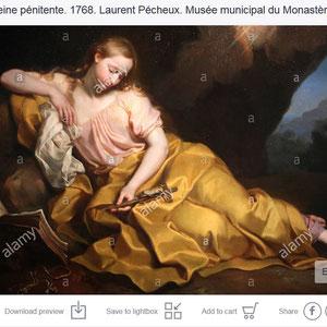 Marie Madeleine pénitente. 1768. Laurent Pécheux. Musée municipal du Monastère royal de Brou. Bourg-en-Bresse.