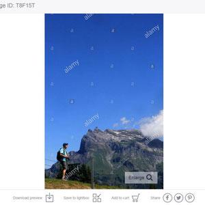 Randonneur. Alpes françaises.