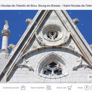 Eglise Saint-Nicolas-de-Tolentin de Brou. Bourg-en-Bresse. / Saint-Nicolas-de-Tolentin Church of Brou. Bourg-en-Bresse.
