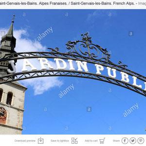 Jardin public. Saint-Gervais-les-Bains.