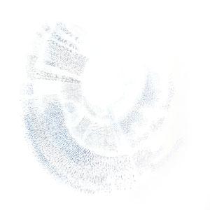 resonanzbogen 2 - farbstift auf papier - 75 x 75 cm - 2016