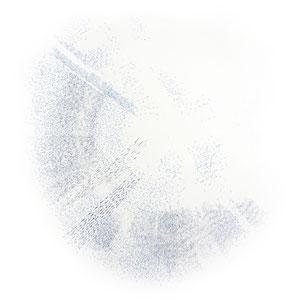 resonanzbogen 1 - farbstift auf papier - 75 x 75 cm - 2016