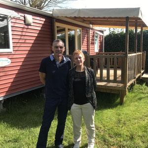 Mr et Mme Lefilleul - Propriétaires du Camping du Port de Lacombe