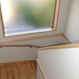 幅広い階段