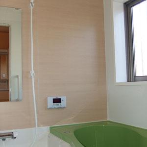 ママの好きなグリーンのお風呂