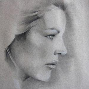 Houtskool portret