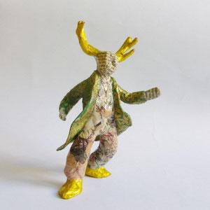 Romantic Deer Sir, Papermaché, 14 cm H (Heike Roesner/2016)