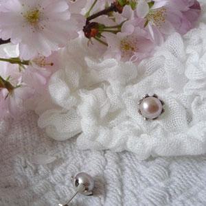 Perlenstecker 925/-Silber, Süßwasserzuchtperlen