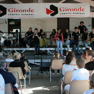 Solo de trompette. Big Band Jazz du Collège Eléonore de Provence, Monségur, promotion 2011. Festival JAZZ360 2011, Cénac. 01/06/2011