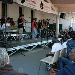 Solo de trombone à coulisse. Big Band Jazz du Collège Eléonore de Provence, Monségur, promotion 2011. Festival JAZZ360, Cénac. 01/06/2011