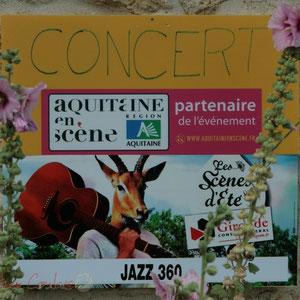 Nos partenaires, Aquitaine en scène, Les scènes d'été Gironde. Festival JAZZ360, Cénac. 01/06/2011