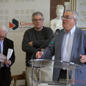 Philippe Madrelle, Jean-Marie Darmian, Pierre Gachet, Hôtel de ville de Créon, 13 mars 2015