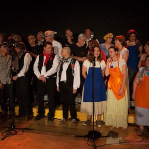 Dernière répétition des Choraleurs, avant de chanter Carmen in Swing à Targon