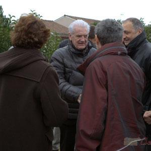 Philippe Madrelle, Président du Conseil général salue les élu-es et autres représentants des collectivités