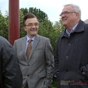 Lionel Faye, Président de la Communauté de Communes des Portes de l'Entre-Deux-Mers, Maire de Quinsac, Jean-Marie Darmian, Conseiller général du canton de Créon
