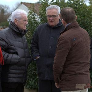 Jean-Jacques Paris, Conseiller général de la Gironde, Philippe Madrelle, Président du Conseil général de la Gironde et Jean-Marie Darmian, Conseiller général du canton de Créon