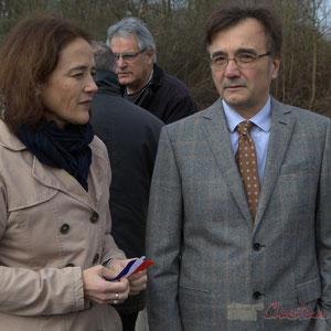 Mathilde Feld, Lionel Faye, Président-es des Communautés de Communes du Créonnais et des Portes de l'Entre-Deux-Mers