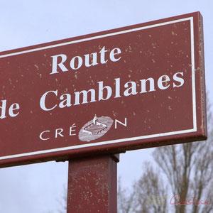 "Inauguration de la RD 14 entre Camblanes-et-Meynac et Créon, route de Camblanes, ""la Verrerie"", le 13 mars 2015, Créon"