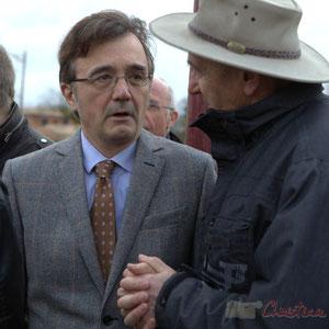 Lionel Faye, Maire de Quinsac, Président de la Communauté de Communes des Portes de l'Entre-Deux-Mers, Marc Boussanges, Adjoint au Maire de Cénac