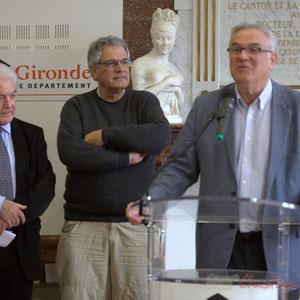 Philippe Madrelle, Pierre Gachet, Jean-Marie Darmian, Hôtel de ville de Créon, 13 mars 2015