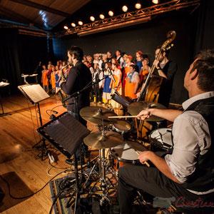 Natahlie Aubin, Paul Robert, Hugo Raducanu, les Choraleurs dans  Carmen in Swing