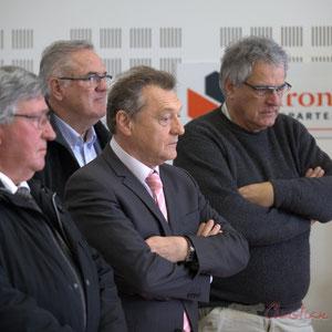 Alain Leveau, Jean-Marie Darmian, Jean-Jacques Paris, Pierre Gachet, Hôtel de ville de Créon, 13 mars 2015