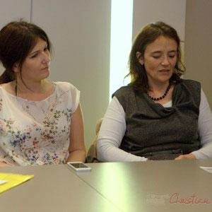Anne-Laure Fabre-Nadlet et Mathilde Feld, candidates aux élections départementales 2015