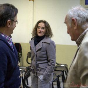 Lionel Faye, Maire de Quinsac, Président de la C.D.C. des Portes de l'Entre-Deux-Mers, Mathilde Feld, Guy Trupin