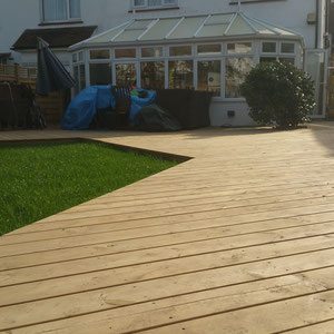 deck and grass