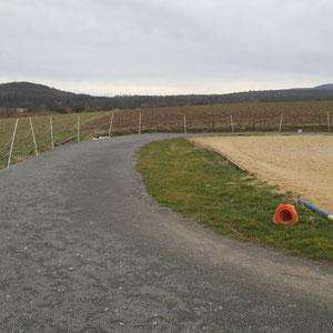 große Ovalbahn mit Dressurviereck