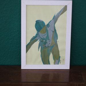 Glatteis, Mischtechnik auf Papier,2016, 21 cm x 30 cm