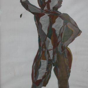 Oh Eitelkeit, Mischtechnik auf Papier,2016, 39 cm x 42 cm