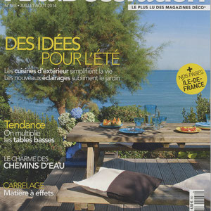 ART & DECORATION MAGAZINE - STOOL LISERE FURNITURE - JULY 2014
