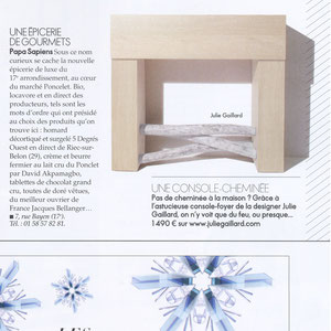 ELLE MAGAZINE - CONSOLE CHIMNEY - JANUARY 2014