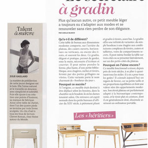 PRIMA MAISON MAGAZINE - DESK LISERE COLLECTION - DECEMBER 2013